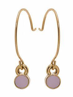 Lilac Round Half Hoop Wire Earrings   American Apparel
