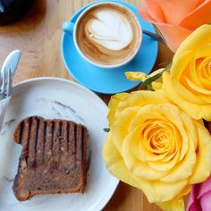 """Only in an antipodean cafe do the sweet echoes of flat whites the approving nod when you order toasted banana bread and the hilarious call of """"hey Wazza"""" combine for a delicious treat... . . . #coffeeyouneed #friday #BroadgateCircle #hiddengems #LoveLondon #eeeeeats #CheatMeal #FRavorites #onthetable #flatwhite #tgif #latergram #iamatravelette #travel #coffeeoftheday #yummy #coffeesesh #moodofmytable #kiwi #prettycitylondon #timeoutlondon #thisislondon #londonpop #toplondonphoto #coffee…"""