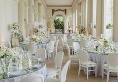 Encased in Corinthian Columns, the Orangery is the brightest and lightest of the spaces at Kensington Gardens. The Orangery can be arranged into four long dining tables that span the length of the room or a vast number of smaller round Wedding Hire, Wedding Reception Venues, Wedding Ideas, Dream Wedding, Party Venues, Wedding Goals, Receptions, Wedding Locations, Wedding Decorations