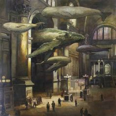 The concept of flying whales delights me far more than I understand.  Francis Livingston Rush Hour