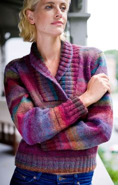 FREE pattern 'Modern Lodge Pullover' from LionBrand ~ This could also be fun to make some adjustment and create a cardigan ~ knit bottom up in pieces using approx 10ply yarn