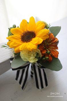 ひまわりブートニア sunflower boutonniere