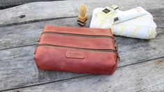 ... Leather men s toiletry bag   Cognac leather dopp Kit   Groomsman Gift   Toiletry  Kit   Wedding Gift   Free Personalization by OplichLeatherGoods on Etsy d2b56f0caf
