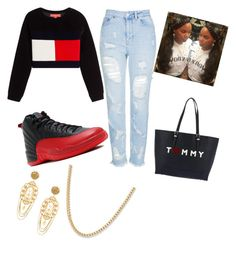 """Untitled #109"" by lolipop2017 ❤ liked on Polyvore featuring Topshop, NIKE, Dolce&Gabbana and Tommy Hilfiger"