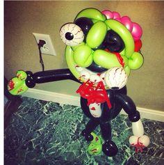 Zombie balloon character #zombie #smurf  #balloon #sculpture #twist #art #character #halloween #decoration #balloon