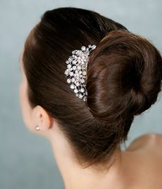 Rhinestone Bridal Haircomb Vintage Style Hair by GildedShadows, $27.95