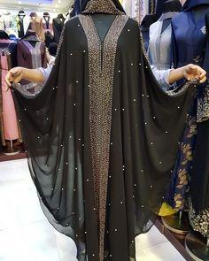 Image may contain: one or more people and people standing Mode Niqab, Mode Abaya, Niqab Fashion, Muslim Fashion, Lehenga, Hijab Style Dress, Kaftan Abaya, Abaya Designs, Muslim Dress