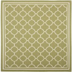 Safavieh Courtyard 6-ft 7-in x 6-ft 7-in Square Green Transitional Indoor/Outdoor Area Rug