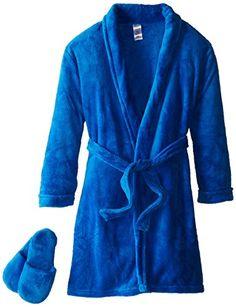 Too Cool 2 Sleep Big Boys' Boy's Plush Blue Bathrobe and Slipper Gift Set, Royal Blue, Stylish Outfits, Boy Outfits, Sleeping Boy, Kids Slippers, Nike Sweatshirts, Summer Tshirts, Sweater Design, Oversized Shirt, Shopping Hacks