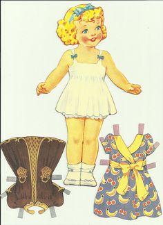 vintage paper doll   cute little girl   Becky Martinez   Flickr