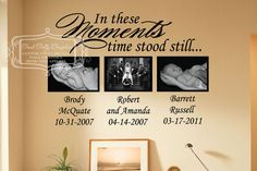 In these moments time stood still  vinyl wall door GoodGollyGraphics