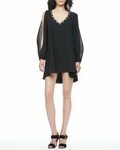 Gracie Embellished-Neck Dress by Lovers + Friends at Neiman Marcus.