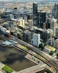 #OldPhotos #Melbourne #Australia #ViewFromTheTop #EurekaTower #YarraRiver #ViewThroughTheWindow #Y2011
