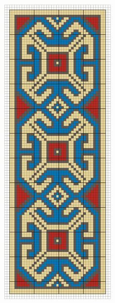 Bead loom, square stitch or perler pattern Tapestry Crochet Patterns, Bead Loom Patterns, Peyote Patterns, Beading Patterns, Beaded Cross Stitch, Cross Stitch Borders, Cross Stitch Designs, Cross Stitch Patterns, Inkle Weaving