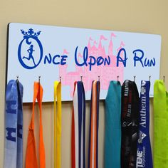 Hooked On Medals Hanger Once Upon A Run - Medal Holder and Display by GoneForaRUN on Etsy