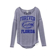 Victoria's Secret University Of Florida Long-Sleeve Drapey Tee ($37) ❤ liked on Polyvore