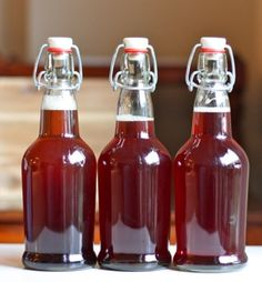GOOD FOR YOUR GOOD BACTERIA IN YOUR STOMACH  Ingredients:  2 quarts water, filtered  4 organic black tea bags  ¾ cup white granulated sugar  ½ cup kombucha from the last batch  1 SCOBY (Symbiotic Culture of Bacteria and Yeast)