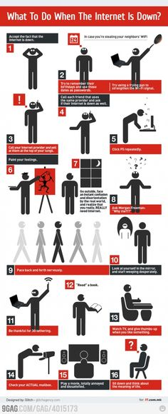 What to do when the internet is down    I usually resort to 8 or 15