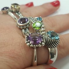 Cocktail rainbow rings collection by Indimaj jewelry!