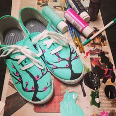 Painted ariZona tea shoes