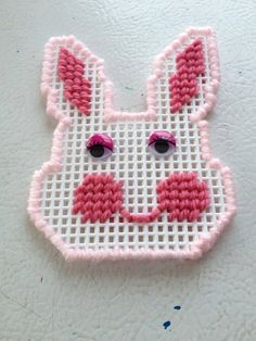 Plastic Canvas Easter Bunny Magnet