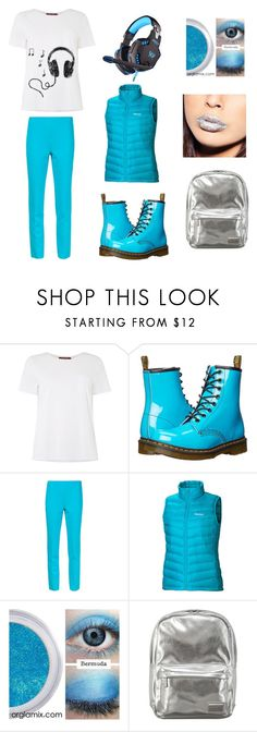 """Undertale AU Underswap Napstaton/Napstabot Casual Cosplay"" by thosetwoshrimps ❤ liked on Polyvore featuring MaxMara, Dr. Martens, Michael Kors, Marmot and Pantone"