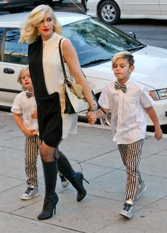 Gwen Stefani and her boys have a fashionable church arrival