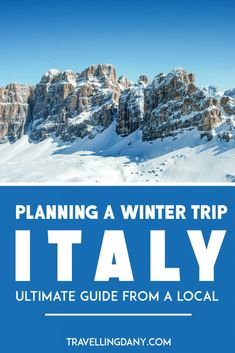 The ultimate guide to winter in italy! with useful tips on the best things to do in italy in december, if you should expect snow in italy, what the weather Weather In Italy, Italy Winter, Ski Italy, Winter Europe, Italy Italy, Things To Do In Italy, Places In Italy, Portugal, Best Places To Travel