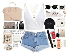"""""""Pre-summer outfit"""" by saraceval ❤ liked on Polyvore featuring Levi's, Lauren Ralph Lauren, Givenchy, Urban Decay, Lord & Berry, Chanel, adidas Originals, H&M, Visconti and Chronicle Books"""