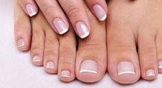 Shellac french manicure and pedicure, for wedding and honeymoon...DONE