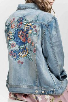 07903455e3 Button up embroidered denim jacket. Fabric: cotton Fit: True to size (see  size chart) Care Instructions: We recommend washing all of our clothing on  a ...