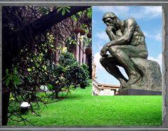 Nombre: EL PENSADOR Fecha: 1902 Estilo:  Impresionismo Técnica: Escultura de bulto redondo y sedente Medidas: 1,89 m x 98 cm x 1,4 m Autor: Auguste RODIN Museo : Museo Rodin.