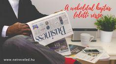 A weboldal hajtás feletti része, weboldalkészítés, Netre Veled magazin