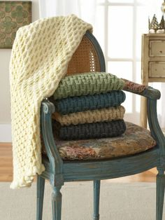 Cushy Smocked Throw and Tea Cozy | Yarn | Free Knitting Patterns | Crochet Patterns | Yarnspirations