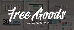 Grab this Weeks Awesome 6 Freebies 9-15 Feb 2015 #webdev #February #free