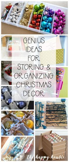 Genius Ideas for Storing & Organizing Christmas Decor | The Happy Housie #organization #christmasorganization #ornaments