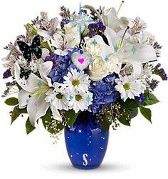 Flowers4U_Beauty in blue my gift to you~