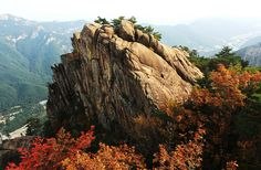 Seoraksan Peak, S-Korea, sure this is prettier when it's autumn