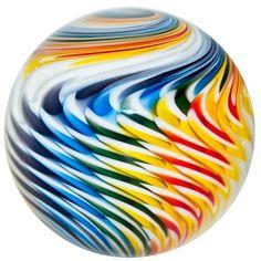 "2 1/8"" Glass Marble ~ Kris Parke ~ ""La Nouvelle"" Hancrafted Marble"