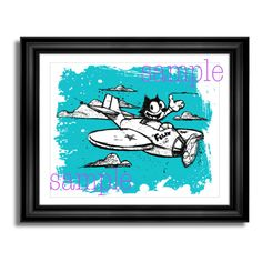 Digital Download Print  Felix the Cat  Vintage by JaimeArtDesign