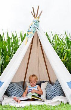 DIY No Sew Kids Teepee | greyhouseharbor.com