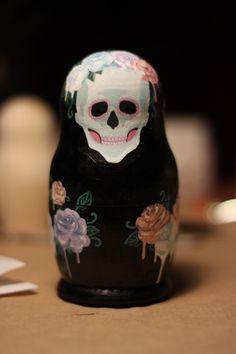 Skulls: #Skull matryoshka doll (also known as a Russian nesting doll or a babushka doll).