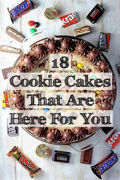 Cookie   Cake = Is there anything better? #dessert #recipe #sweet #recipes #delicious
