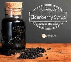 Homemade immune boosting elderberry syrup