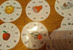 Kruhy - tvoříme slova ze slabik či písmen. Las Ve, Grade 1, Montessori, Language, Languages, Language Arts