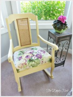 rocker AfterChalk Paint®  a mix of Arles and Cream..clear wax and a little distressing..rock-a-bye baby!