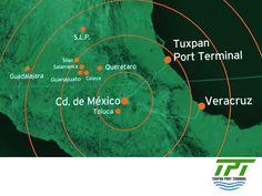 TUXPAN PORT TERMINAL. Localizado en una ubicación privilegiada, el Puerto de Tuxpan en el Golfo de México, será el punto más cercano al Valle de México, el principal centro de consumo del país, así como de las Zonas Centro y Bajío. Tuxpan Port Terminal, será una terminal que se convertirá en una nueva conexión entre México y otros países del mundo. Por su tecnología de punta y gran capacidad de movimientos en carga y descarga, será una de las mejores terminales portuarias…