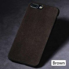 Luxury Suede Leather Iphone Cases - 02-Deep brown / For iPhone 7 Plus