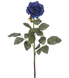 "Bloom Room 27.5"" Confetti Rose Stem-Blue"
