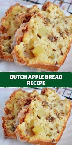 Bread Machine Recipes, Quick Bread Recipes, Dutch Recipes, Banana Bread Recipes, Sweet Recipes, Cooking Recipes, Bread Cake, Dessert Bread, Apple Dessert Recipes
